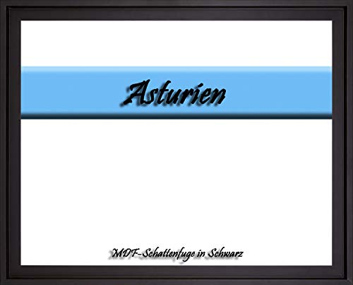 MDF-Leerrahmen ASTURIEN speziell für Leinwandbilder BZW. Keilrahmenbilder im Format 75 x 115 cm. Schattenfugenrahmen in der Farbe: Schwarz. 10 Farben zur Auswahl