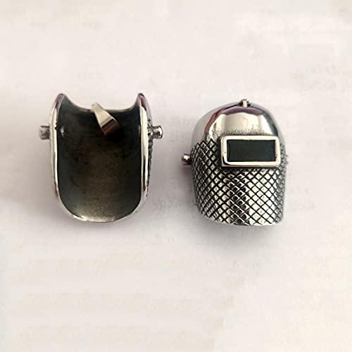 Aldevins&Granger Collar Colgante Cadena Estilo Punk Máscara Colgante para Hombre De Acero De Titanio Colgante para El Cuello Joyería Estudiante Hipster 01