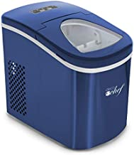 Deco Gear Rapid Electric Party Ice Maker - Compact Top Load 26 Lbs. Per Day Capacity - Great For Hosting Never Run Out Of Ice Again (Blue)