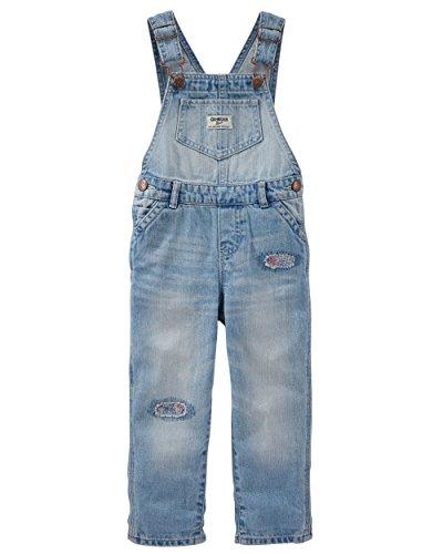 OshKosh B'Gosh Latzhose Jeans Mädchen Pant Winter Baby Hose Babyhose (12 Monate, hellblau)