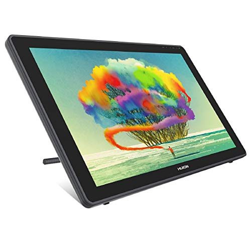 HUION Kamvas 22 Gráficos Dibujo Monitor de Dibujo Pantalla Tableta Función de Inclinación 8192 Lápiz óptico Sin Batería, Viene con Guante, Soporte Ajustable, 20 Plumas de Pluma -21.5 Pulgadas