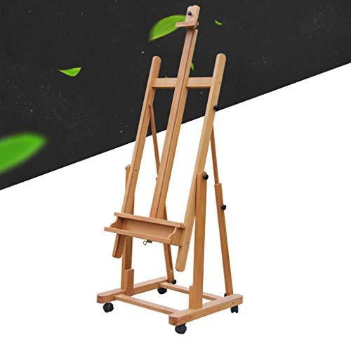 DNSJB Sketch Easel Art Easel Caballete de Piso multifunción, se Puede Usar en Paralelo y Vertical, Ajuste Las Ruedas autopropulsadas de múltiples ángulos para facilitar el Movimiento