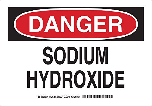 Brady 126398 Chemical and Hazard Sign, Legend'Sodium...