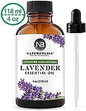 NaturoBliss Lavender Essential Oil, 100% Pure Therapeutic Grade, Premium Quality Lavender Oil, 4 fl. Oz - Perfect for Aromatherapy and Relaxation
