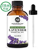 NaturoBliss Lavender Essential Oil, 100% Pure Therapeutic Grade, Premium Quality Lavender Oil, 4 fl. Oz - Perfect for Aromatherapy and Relaxation