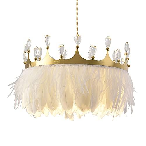 WOERD Lámpara de Techo Colgante Cristal, Lámpara de Techo Led Regulable, E27 Lámpara De Araña Iluminación, Regulable Lámpara Colgante para Dormitorio Sala de Estar Restaurante Comedor