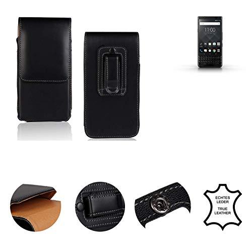 K-S-Trade® Holster Gürtel Tasche Für BlackBerry KEYone Black Edition Handy Hülle Leder Schwarz, 1x
