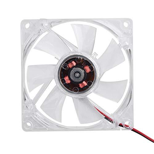 Deror Ventilador de la Caja de la PC de 80m m, refrigerador silencioso del Ordenador del Ventilador de la Caja de la PC de la luz 12V 4Pin del LED(Vistoso)