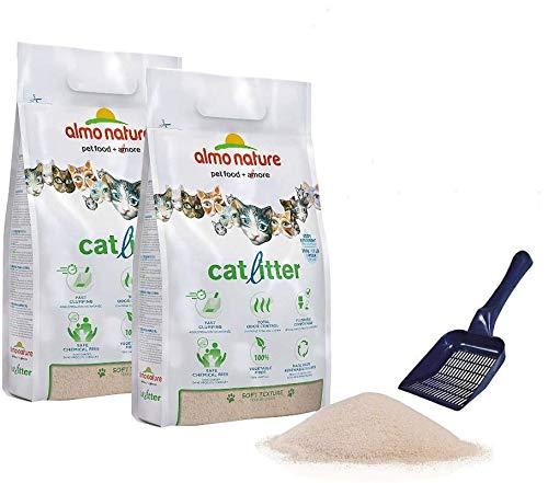 Sabbia CatLitter Almo Nature per Gatti agglomerante 2 x 4,54 più Paletta in Omaggio