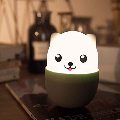 fghrgh Lámpara De Mesa, Luz Nocturna Taza De Té para Perros Lámpara De Silicona Linda Mascota Cachorro Silicona Luz Nocturna Lámpara Recargable USB Lámpara De Noche Regalo A1466