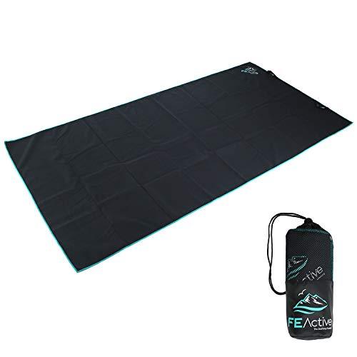 FE Active Asciugamano da Campeggio in Microfibra - Ultrafino Compatto. Asciugatura Rapida. per Campeggio, Spiaggia, Palestra, Viaggi, Nuoto, Escursionismo, Zaino da Viaggio I Disegnato in California