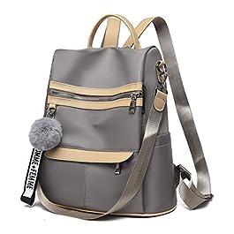 COOFIT Sac à dos pour femme, sac d'école, décontracté, multifonction, sac à dos, sac à dos de voyage, sac à dos scolaire