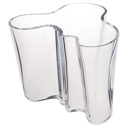 Iittala Vase Aalto 160 mm Klar aus Glas