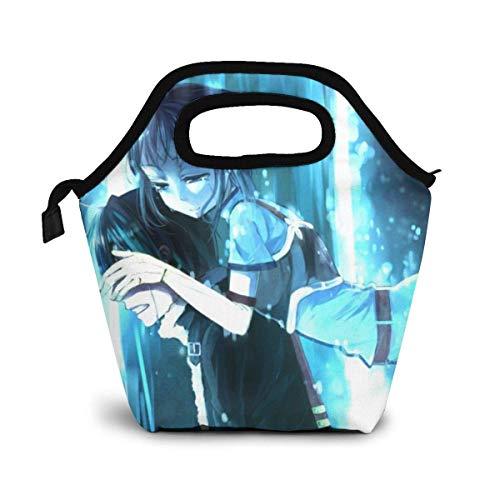Sword Art Online Kirigaya Kazuto borsa per il pranzo barbecue borsa per ghiaccio borsa da applicare al lavoro picnic all'aperto 30,5 x 23,5 x 15,5 cm