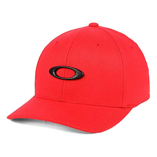 Oakley Tin Can Carbon Fiber Stretch-Fitted Cap Red/Black