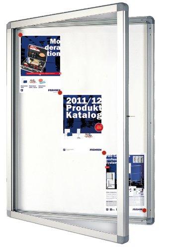 Franken SK9SE Schaukasten 9 x DIN A4 Schreibtafel, Format 75 x 101.1 x 4.5 cm, weiß