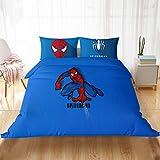 Marvel Comics - Juego de cama infantil con cremallera oculta de Spiderman, diseño de Spiderman