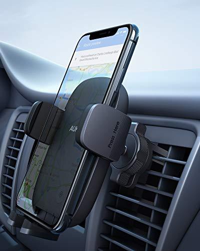 AUKEY [Versione Aggiornata] Porta Cellulare da Auto Condotto dell'Aria Supporto Smartphone per Auto (Garanzia a Vita) Universale per iPhone 12/11 / X / 8/7, Samsung S9 / 8/7, Xiaomi, Huawei e GPS
