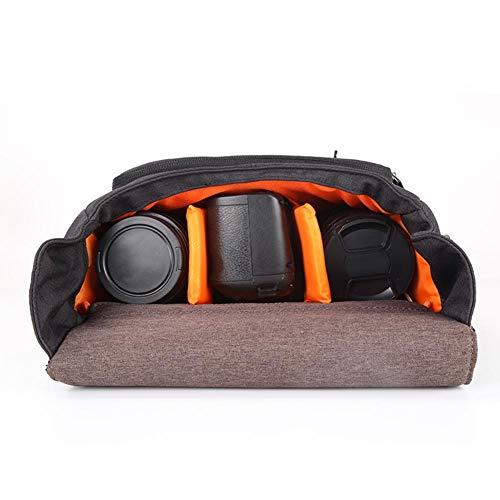 Waterdichte cameratasje Ademende camera-opbergtas, voor DSLR-camera(Dark gray)