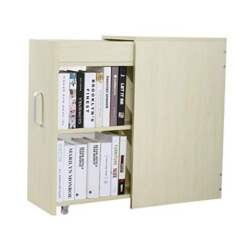 HM&DX Holz Schublade Bücherregal, Bücherschrank Mit rädern Unter Schreibtisch Buch Kabinett...