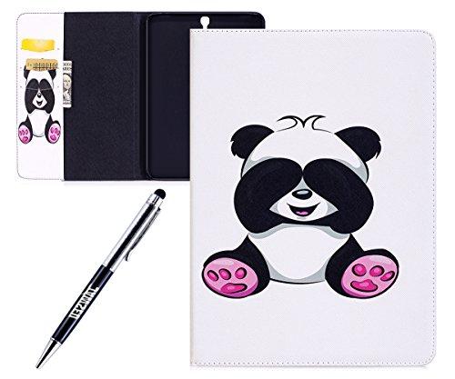 Kompatibel mit Galaxy Tab S3 9.7 Hülle,Galaxy Tab S3 9.7 Smart Cover Case,Panda Muster PU Leder Tasche Schutzhülle Ledertasche Flip Case Für Galaxy Tab S3 9.7 T820 / T825