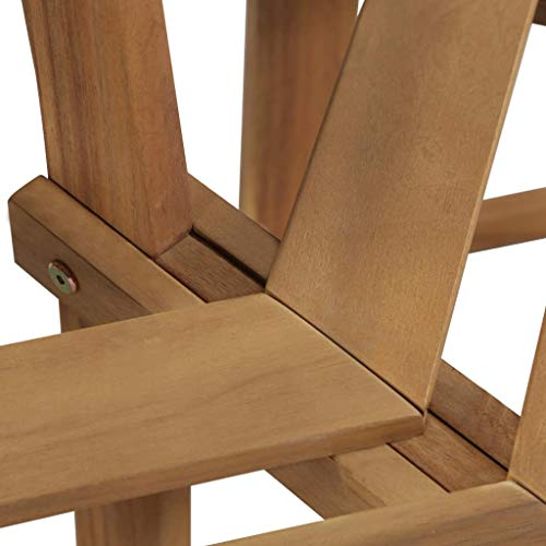 Tidyard- Baumbank Gartenbank Holz Parkbank Outdoor Sitzbank Holzbank QuadratBank Massives Akazienholz, 140x140x86 cm - 4