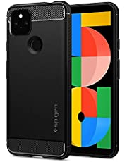 Spigen Google Pixel 5a 5G ケース TPU 米軍MIL規格取得 耐衝撃 衝撃吸収 Qi充電 ワイヤレス充電 ラギッド・アーマー ACS02908 (マット・ブラック)