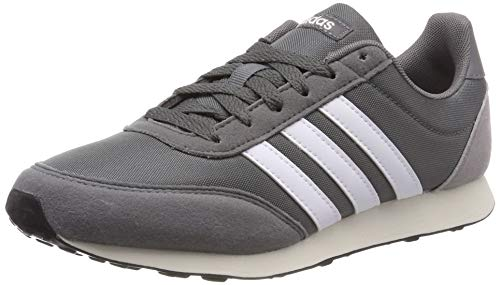 Adidas V Racer 2.0 Zapatillas de Running Hombre, Gris (Grey Four F17/Ftwr White/Light Granite Grey Four F17/Ftwr White/Light Granite), 37 1/3 EU (4.5 UK) ⭐