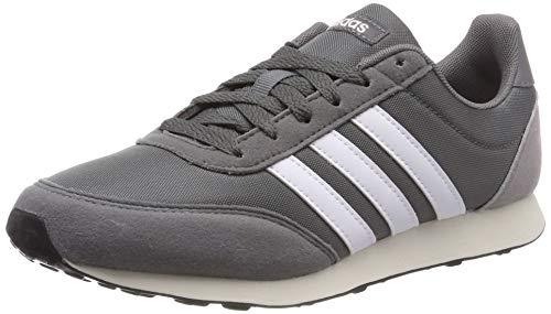 Adidas V Racer 2.0 Zapatillas de Running Hombre, Gris (Grey Four F17/Ftwr White/Light Granite Grey Four F17/Ftwr White/Light Granite), 37 1/3 EU (4.5 UK)