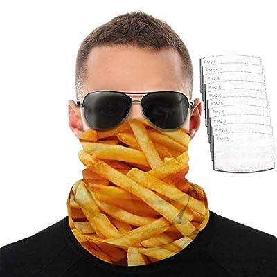 Mamihong Protège-Nuque de Masque Facial de Protection UV de Frites avec 10 filtres, écharpe Coupe-Vent Bandeau crème Solaire Bandana Respirant