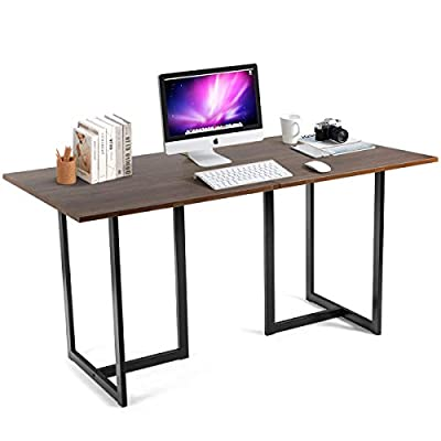 Tangkula 60 inch Computer Desk, Large Writing Table, Modern Versatile Writing Desk with Spacious Desktop, Computer Workstation Study Table Home Office Desk from Tangkula