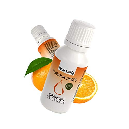 Lean:Life Flavour Drops - Aroma Tropfen - Orange - vegan, zuckerfrei, glutenfrei - ohne Kalorien - viele verschiedene Sorten - Made in Germany - 30ml