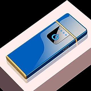 ISQUEIRO ELÉTRICO AZUL CARREGA USB PROVA DE VENTO S7824B