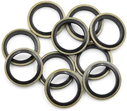 for Car 30mm OD 10pcs Engine Oil Crush Washers Drain Plug Gaskets 22mm ID