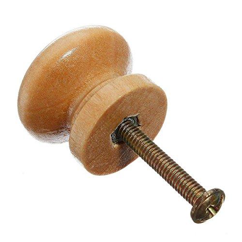 TOOGOO(R) 10 Stueck Schublade Griff Moebelknoepfe Ausgestattet mit Schraube Moebelknoepfe aus Holz