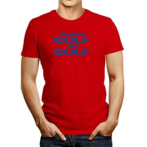 T-shirt Idakoos What Happens in Golf Séjours in Golf - rouge - Taille M