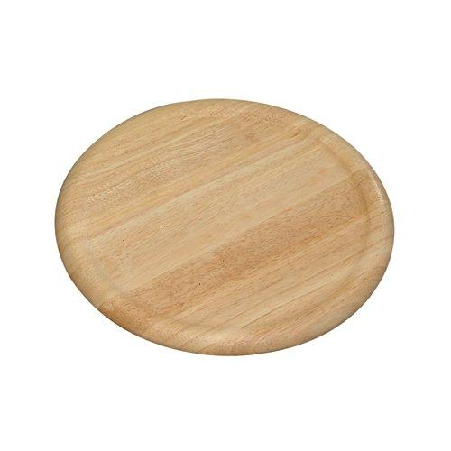 Kesper 60462 - Plato para pizzas de madera de caucho, 32 x 1.5 cm