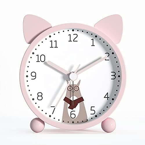 Despertador Dibujos Animados para Niños Reloj Despertador Snooze Minimalista Dormitorio Infantil Dormir Reloj Digital Lindo Reloj Despertador