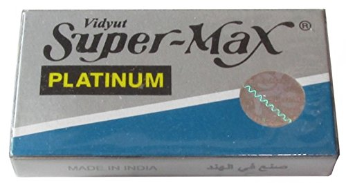 Super-Max Platinum 両刃替刃 100枚入り(5枚入り20 個セット)【並行輸入品】