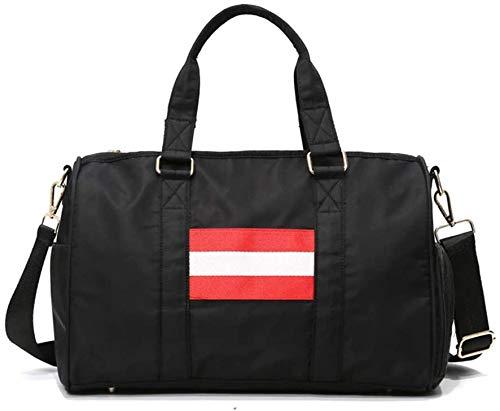 ZouYongKang Bolso de gimnasio deportivo Agua de bolsillo húmedo - prueba con zapatos Compartimiento para mujeres y hombres Viajes Bolsa de lona para la bolsa de viaje de Weekender, bolso duradero de l