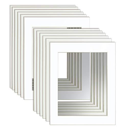UMI. Essentials - Juego de 12 Paspartús, 28 x 35 cm para Fotos de 22 x 28 cm, Blanco
