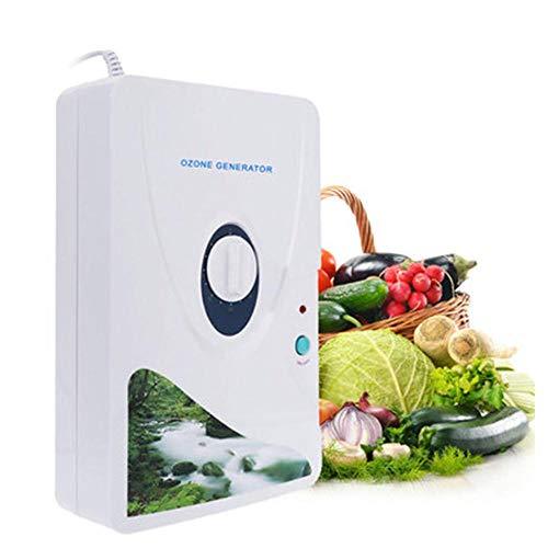 Generador de ozono, esterilizador desodorizador purificador de Aire de 600 MG/h para Agua con Temporizador de 60 Minutos, Tubo de Repuesto y Piedra