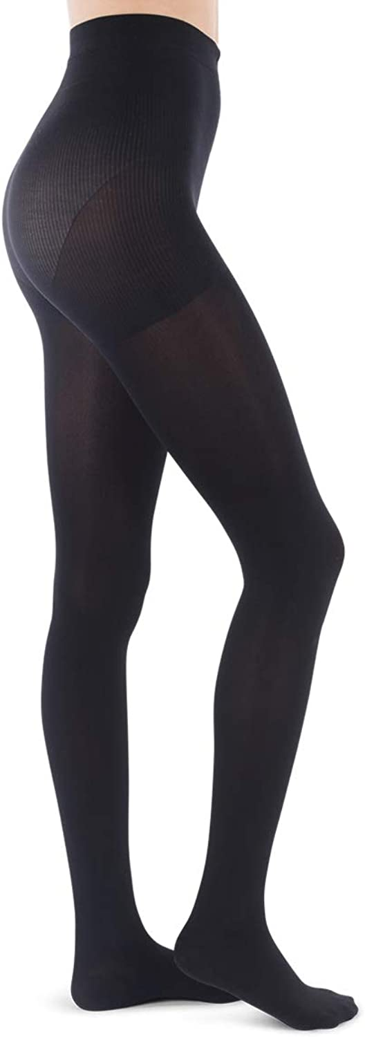 Jomi Compression Pantyhose Women Collection, 15-20mmHg Opaque Closed Toe 174 (Small, Black)