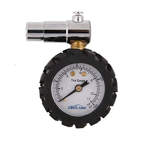 GODESON Smart Bike Reifendruckmanometer 0-160 psi, Doppelwaage mit 0-11 bar, Professional für Presta-Ventile von Fahrradreifen