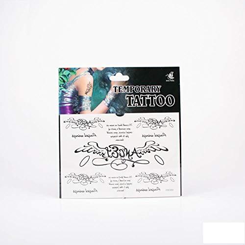 *Tattoos Engelsflügel mit Schriftzug Angel, Schriftzug Angel wings und Text 01-00080