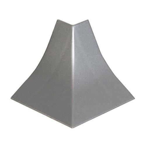 HOLZBRINK Rinconera exterior: de PVC a juego con el copete de encimera aluminio plata 23x23 mm