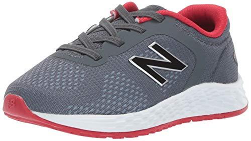 New Balance Kid's Fresh Foam Arishi V2 Bungee Running Shoe, Gunmetal, 7 W US Toddler