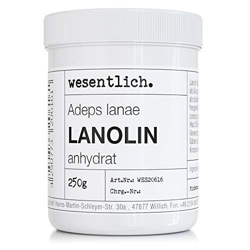 Lanolin Wollfett anhydrat 250g - wasserfrei und kaum Geruch - Wollwachs von wesentlich.