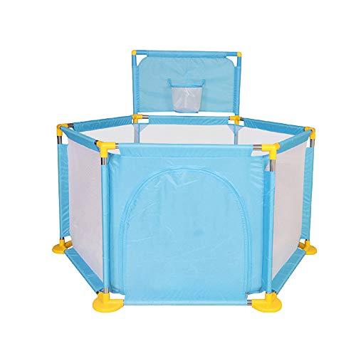 MKJYDM Barandilla for niños Cama de la Familia bebé Resistente a los Golpes Resistente a los Golpes Deflector 129 x 66 x 105 cm Valla de Juegos para niños (Color : Blue)