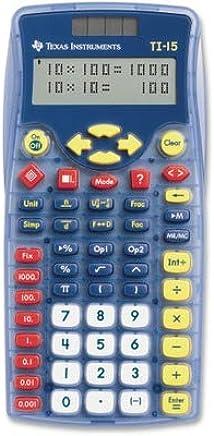 $25 » Texas Instruments TI-15 Explorer Elementary Calculator - 2 Line(s) - 11 Character(s) - Battery/Solar Powered - 6.9quot; x 3.5quot; x 0.7quot; - Blue